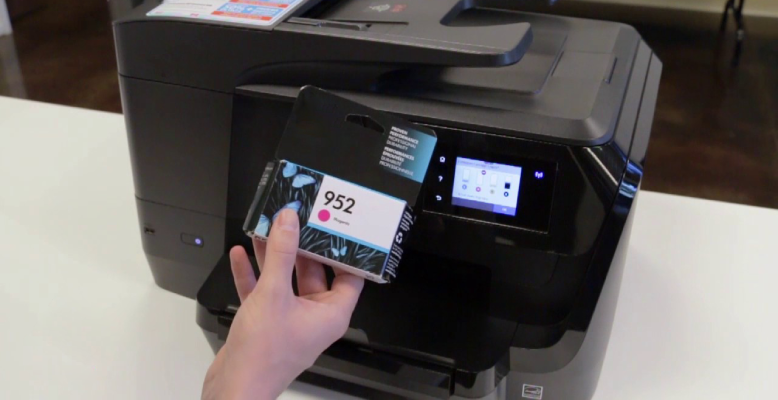 hp officejet pro 8710 ink cartridge installation