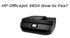 hp officejet 4650 how to fax