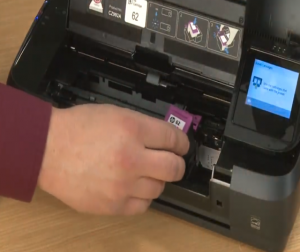 how to check ink in hp officejet 250 printer
