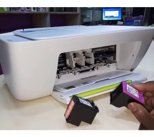 how to check ink levels on HP Deskjet 2132