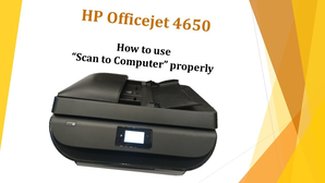 hp officejet 4650 scan