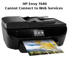 hp envy 7640 cannot connect to web services